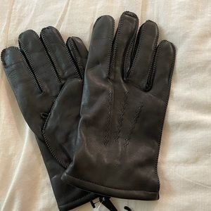 Nwt Fownes Lined Leather Gloves